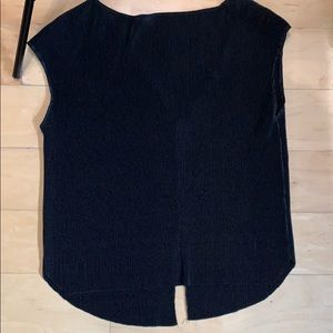 Zara black ripped shirt. Oversized